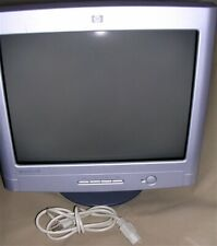 "17"" (16"" viewable) HP vx74 Flat Screen CRT Computer Monitor w/Cables WORKS GREAT"