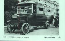 Pamlin Repro Photo postcard M585 Southdown Daimler Bus Brighton Portsmouth