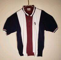 Walt Disney World Mens Red White Blue Color Block Mickey Polo Golf Shirt L Large