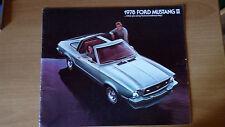 FORD MUSTANG II 1978 CATALOGO DEPLIANT BROCHURE USA NOS