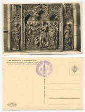 38929 - Münster U.L.F. zu Freiburg -Schutzmantel-Altar - Echtfoto - alte AK