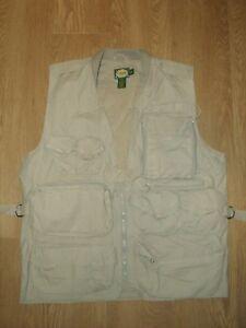 Cabela's Men's Vest Hunting Pigeon Shooting Fishing Top Beige Khaki L Pockets