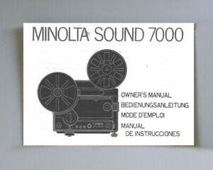 Minolta Sound 7000 Instruction Manual photocopy multi-language
