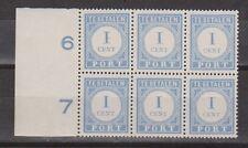P45 Port 45 blok + randstrook PF NVPH Nederland Netherlands due stamp sheet MNH