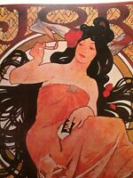 Alphonse Mucha Art Nouveau Job Rolling Papers Pretty Lady Ad Poster Print