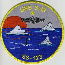 USS S-18 SS 123 - Periscope Ice Dolphins -5 inch FE BC Patch Cat No C6225