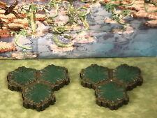 Swamp 3-Hex Tile X2 Heroscape Terrain