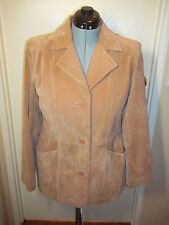 Vintage Dialogue Suede Leather Jacket Tan W. full liner Womens sz. L