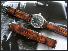 26mm Distressed Aged Vintage Military Bomber Pilot leather watch band IW SUISSE
