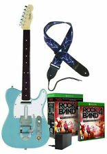 """Xbox One Rock Band 4 Fender TELECASTER """"Surf Green"""" Guitar,Legacy Adapter,RBGame"""