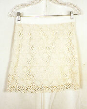 NWOT Ann Taylor LOFT cream Crochet Floral Pencil Skirt lined SZ 2P