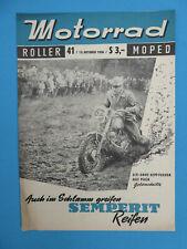 Internat Fachzeitschrift MOTORRAD ROLLER MOPED Heft 41-1956 PUCH MSK50, NSU Fox