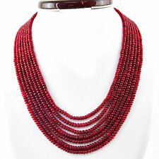 Genuine Premium AAA Ruby necklace with 18 kt (750/1000) gold clasp, length 54cm