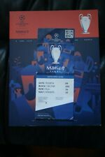 SPERONI V Liverpool 2019 CHAMPIONS LEAGUE FINALE programma e ticket