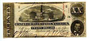1863  $10  Confederate Currency  T-59  CU   Richmond