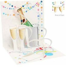 3D Pop Up Greeting Card - TOAST TO YOU-Anniversary, Birthday, Congratulations
