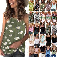Women Strappy Cami Summer Beach Tank Vest Lady Sleeveless T-shirt Tee Shirt Top