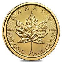 2019 1/4 oz Canadian Gold Maple Leaf $10 Coin .9999 Fine BU (Sealed)