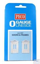 LK-757 Peco O Gauge Doors & Frames 2 In Pack