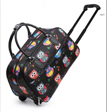 Cute Owl Vintage Holdall Trolley Bag Travel Case Hand Luggage Proof Holiday Size