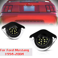 Pair For Ford Mustang 1994-2004 License Plate Light Exterior Parts Bulbs Replace