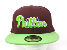 MLB Philadelphia Phillies Maroon Green Baseball Cap Hat Fitted 7 5/8 EXCELLENT