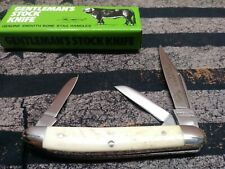🔥Vintage Parker Cutco pocket knife med Stockman Bone Stag farmers cattle w/case