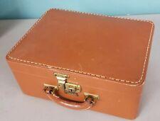 Luce leather travel vanity case only vintage 13x9x5 locking - no key G 200128