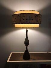 Mid Century Vintage Style 3 Tier Fiberglass Lamp Shade Starburst Atomic  18 Gray