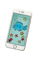 FISH Phone screensaver/wallpaper - fits all phones. DIGITAL download.