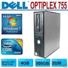 DELL OPTIPLEX DESKTOP ~ INTEL CORE 2 DUO 3.0GHz  ~ 500GB ~ 4GB ~ WINDOWS 7