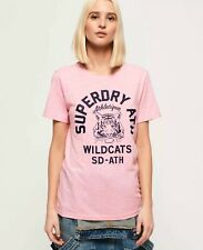 Superdry Women's/Girl's Tiger Mascot Blush Marl Pink T Shirt UK Size 8/XS