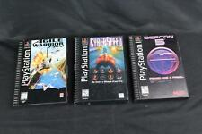 Lot of 3 PlayStation PSX PS1 Long Box Games: Defcon 5, Agile Warrior, Cyberspeed