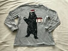 GYMBOREE OUTLET HOLIDAY BEAR GRAY BOYS TOP SIZE 6