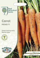 Mr Fothergills -  Vegetable - RHS Carrot Primo F1 - 400 Seeds