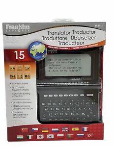 Franklin Explorer Advanced Global Translator 15 Languages ET-3115