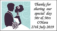 48 Personalised Wedding Couple Party Labels Stickers Favours Sweet Bags Thankyou