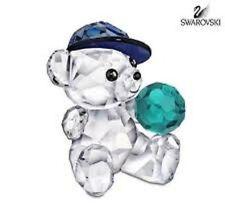 Swarovski Crystal Kris Bear Lets Play Ball SIGNED Rare 1119925 New in Box 551