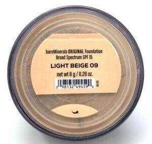 BareMinerals bareescentuals Loose Face Powder original Foundation Light Beige 09