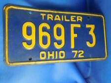 OHIO LICENSE PLATE 1972 969 F 3 USA MAN CAVE SHOP SIGN VINTAGE COLLECTOR