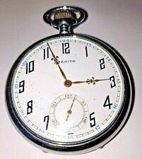 ancienne montre gousset Zenith révidée par horloger fonctionne parfaitement TBE