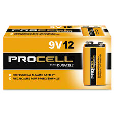 Duracell Procell Alkaline Batteries 9V 12/Box PC1604BKD