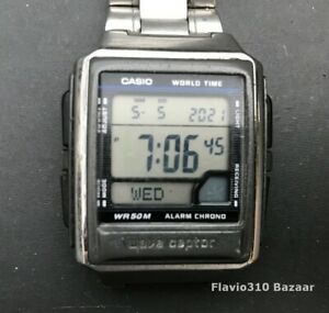 Rare CASIO Wave Ceptor WV-59A (3054) Atomic Timekeeping 38mm watch - New Battery