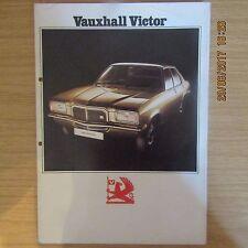 VAUXHALL VICTOR Saloon UK Market Car Sales Brochure 1973-1974