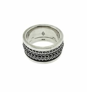 Stephen Webster Highwayman Sapphire Silver Spinning Ring Size 12