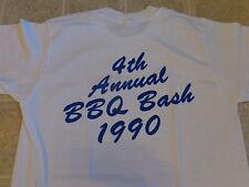 vtg 1990 PREFERRED HEALTH NETWORK annual BBQ bash T-SHIRT MED soft THIN 50/50 80