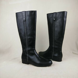 Patricia Nash Carlina Black Knee High Riding Boots Women's Size 6 M US