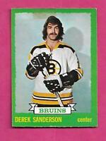 1973-74 OPC # 183 BRUINS DEREK SANDERSON GOOD CARD (INV# C0971)