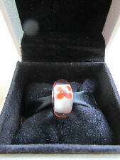 Pandora Wildflower Red Poppy Murano Charm 791636  Comes with Pandora Suede Pouch