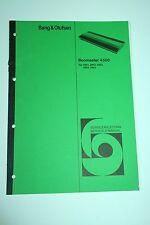 Bang & Olufsen Beomaster 4500 Service Manual